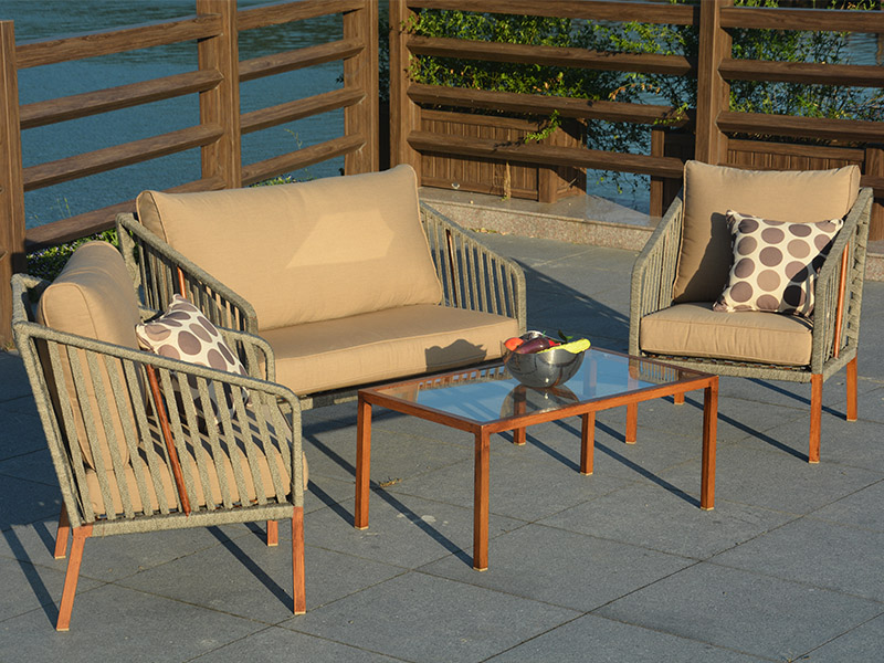 Rattan sofa chair set